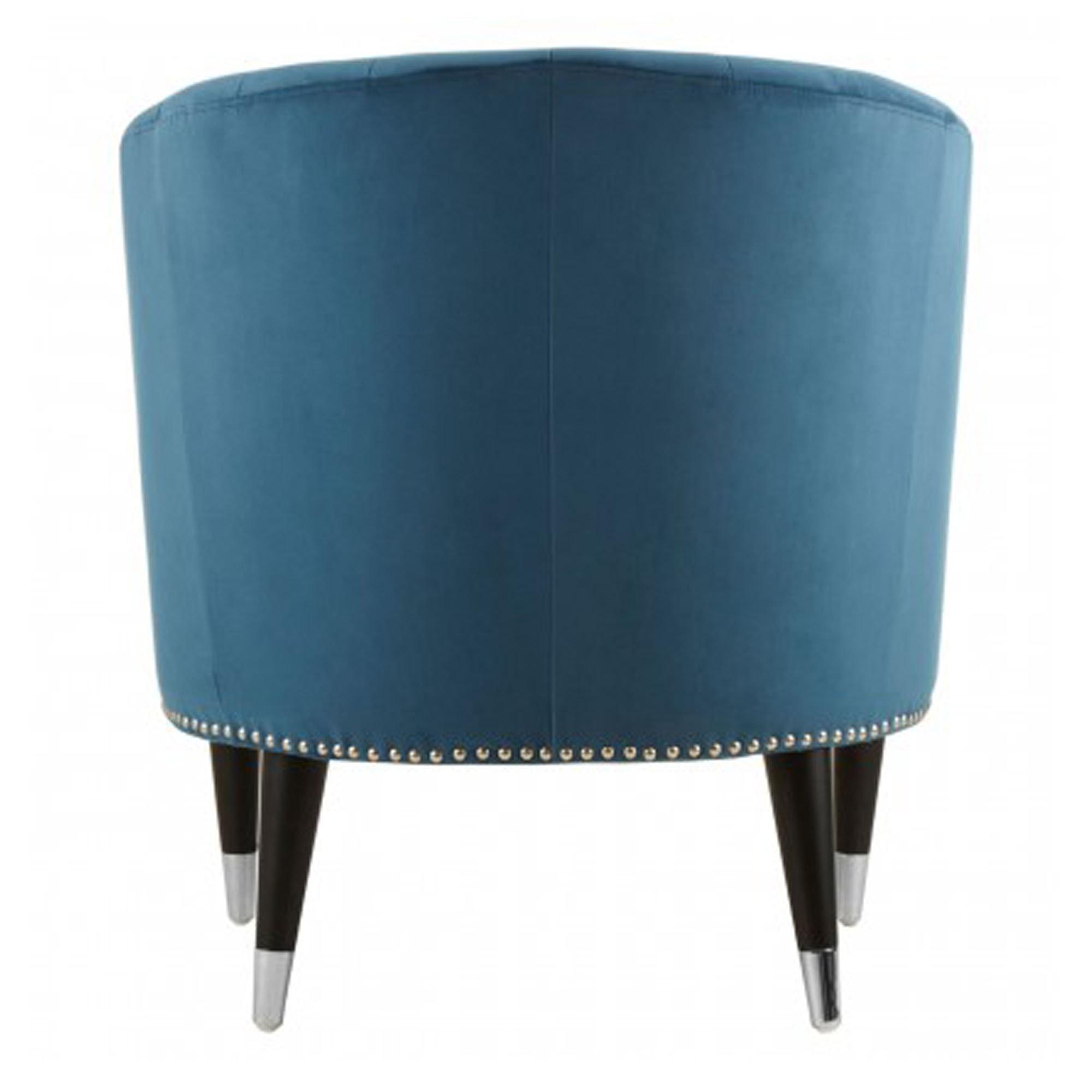 Fabulous Doucet Blue Velvet Chair Lamtechconsult Wood Chair Design Ideas Lamtechconsultcom