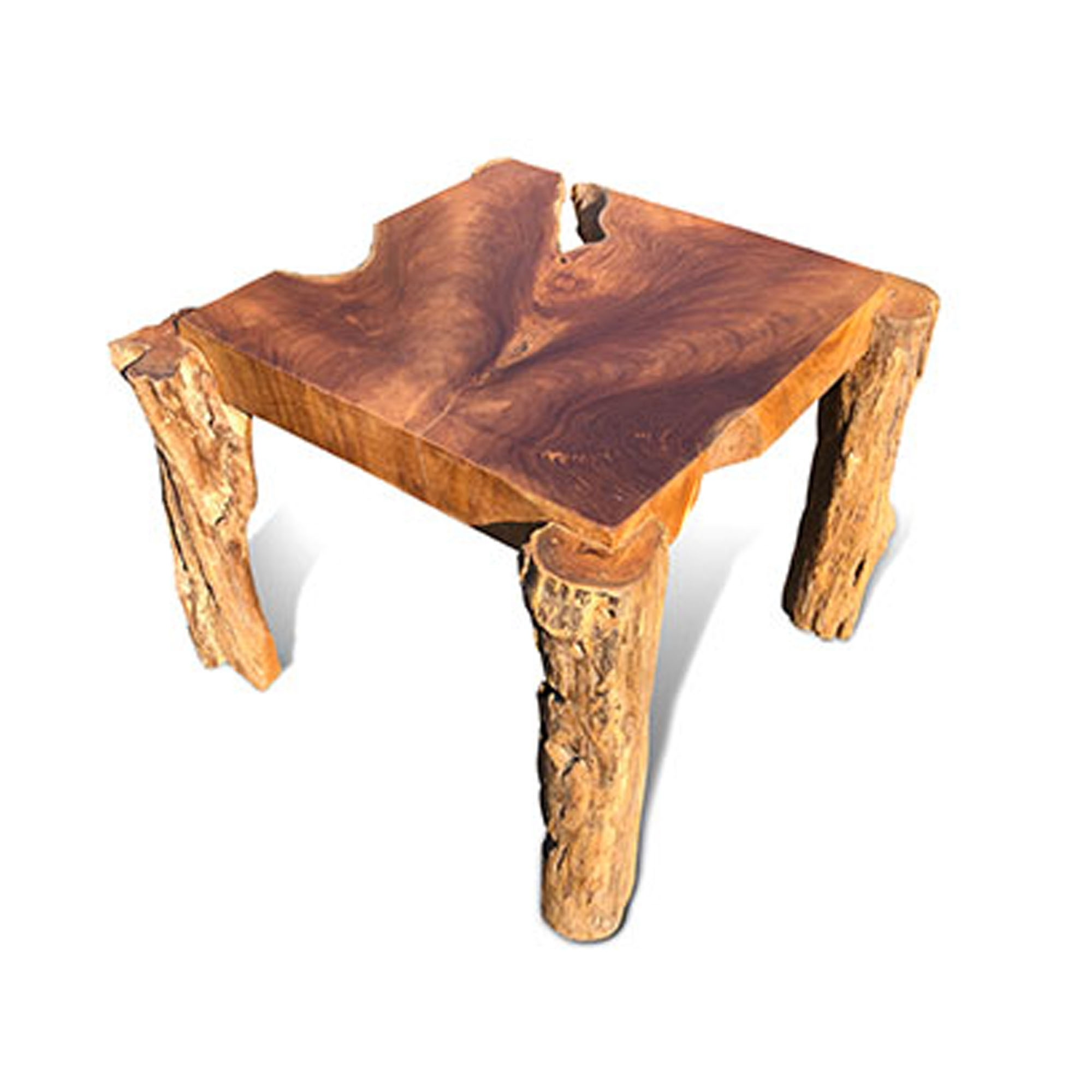 Driftwood Coffee Table Rustic Teak Root Square