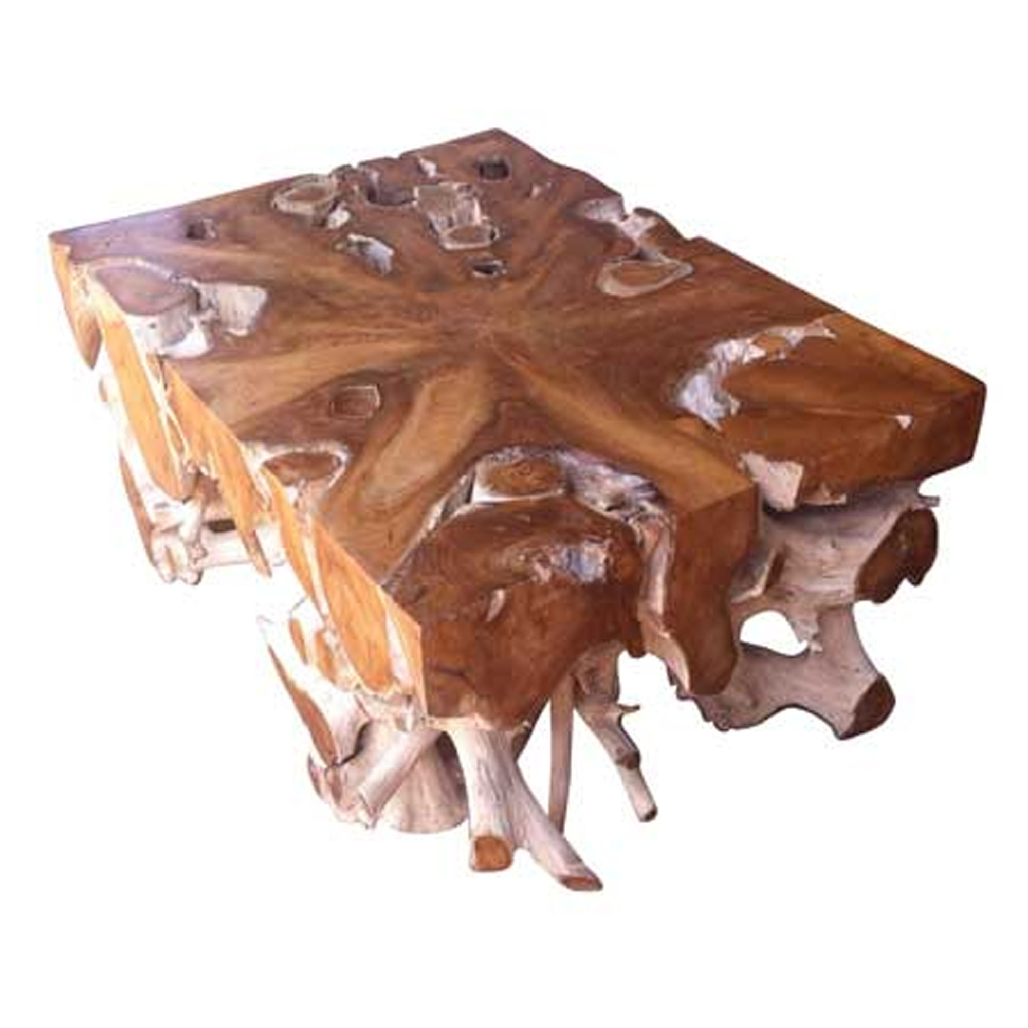 Driftwood Coffee Table Teak Root Solid Rectangular