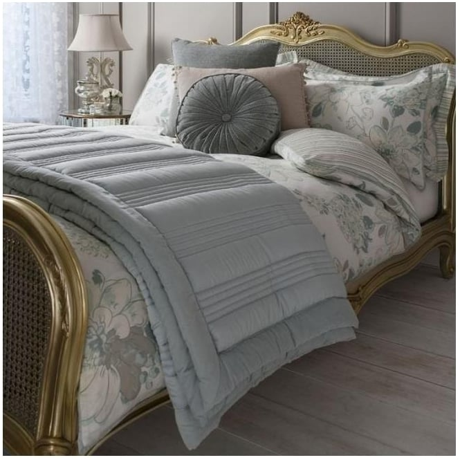 Duck Egg Ashby Quilted Bedspread