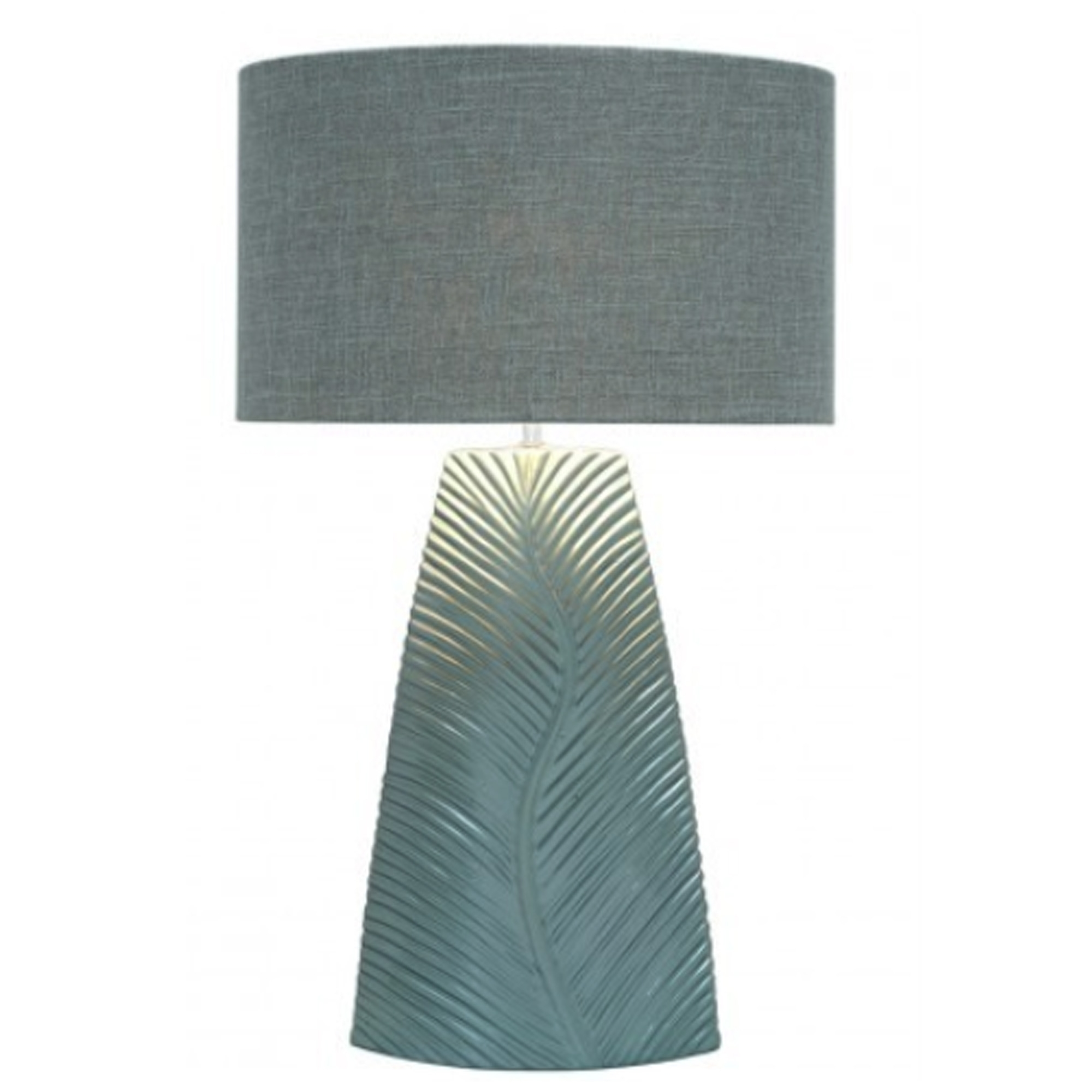 Duck Egg Blue Leaf Modern Table Lamp Table Lamps Home Accessories