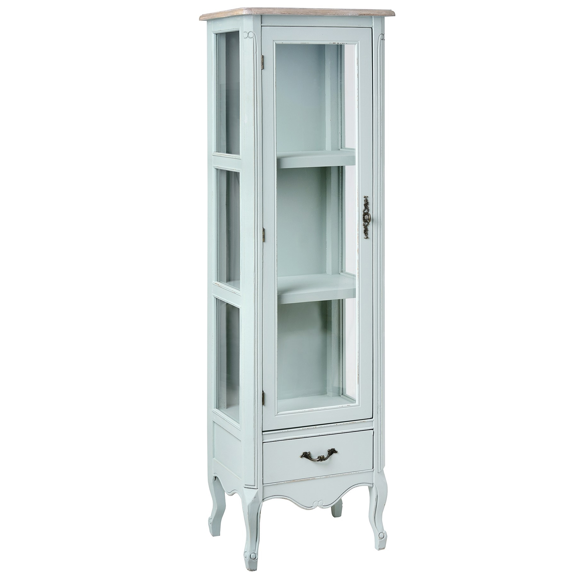 Duck Egg Shabby Chic Display Cabinet