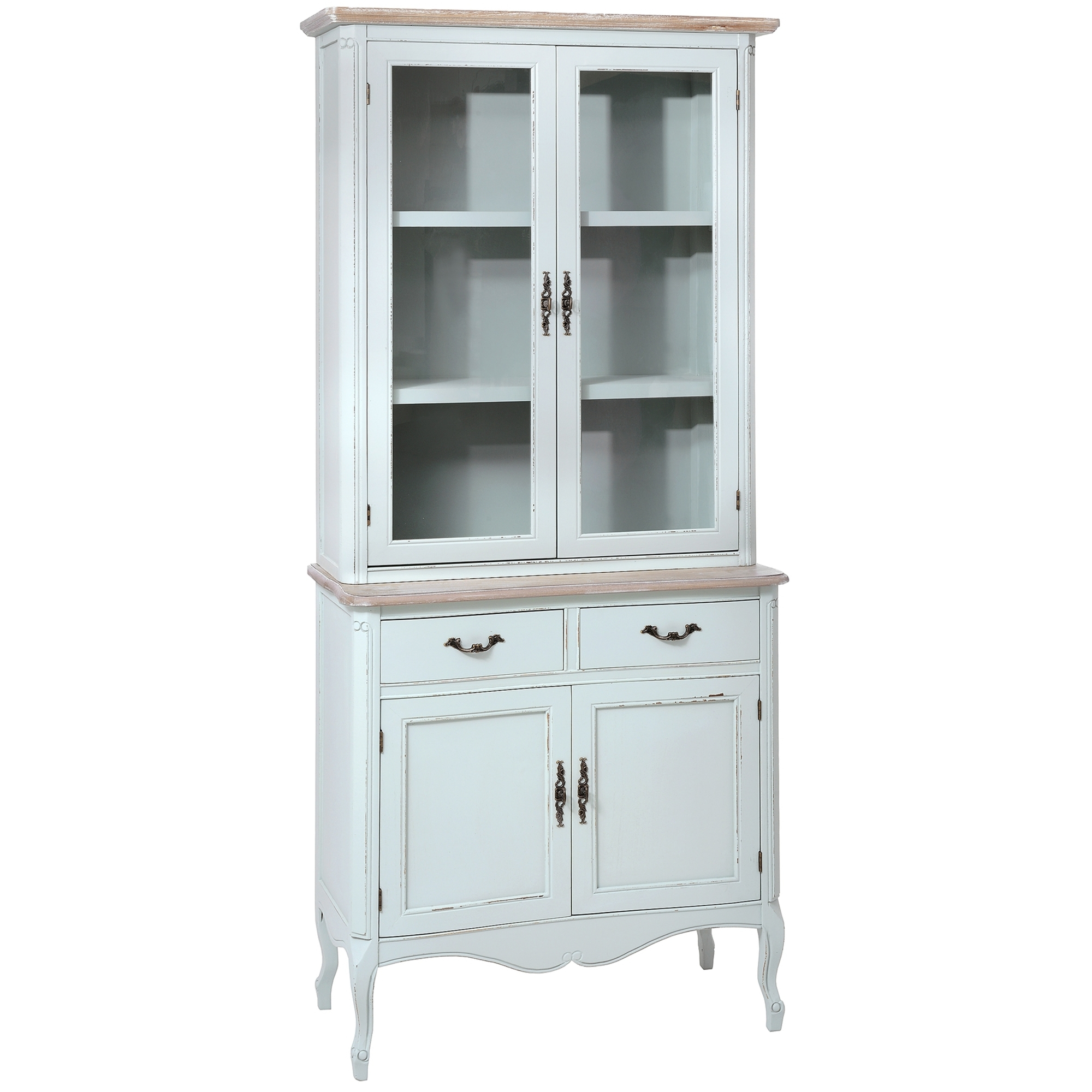 duck egg shabby chic display cabinet french furniture online now rh homesdirect365 co uk shabby chic china cabinet hutch White Distressed China Cabinet