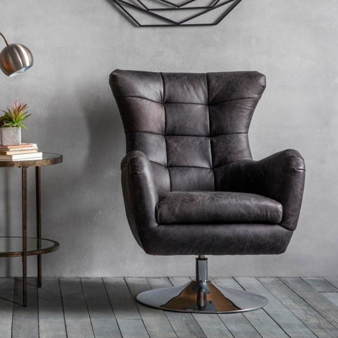 Ebony Bristol Swivel Chair