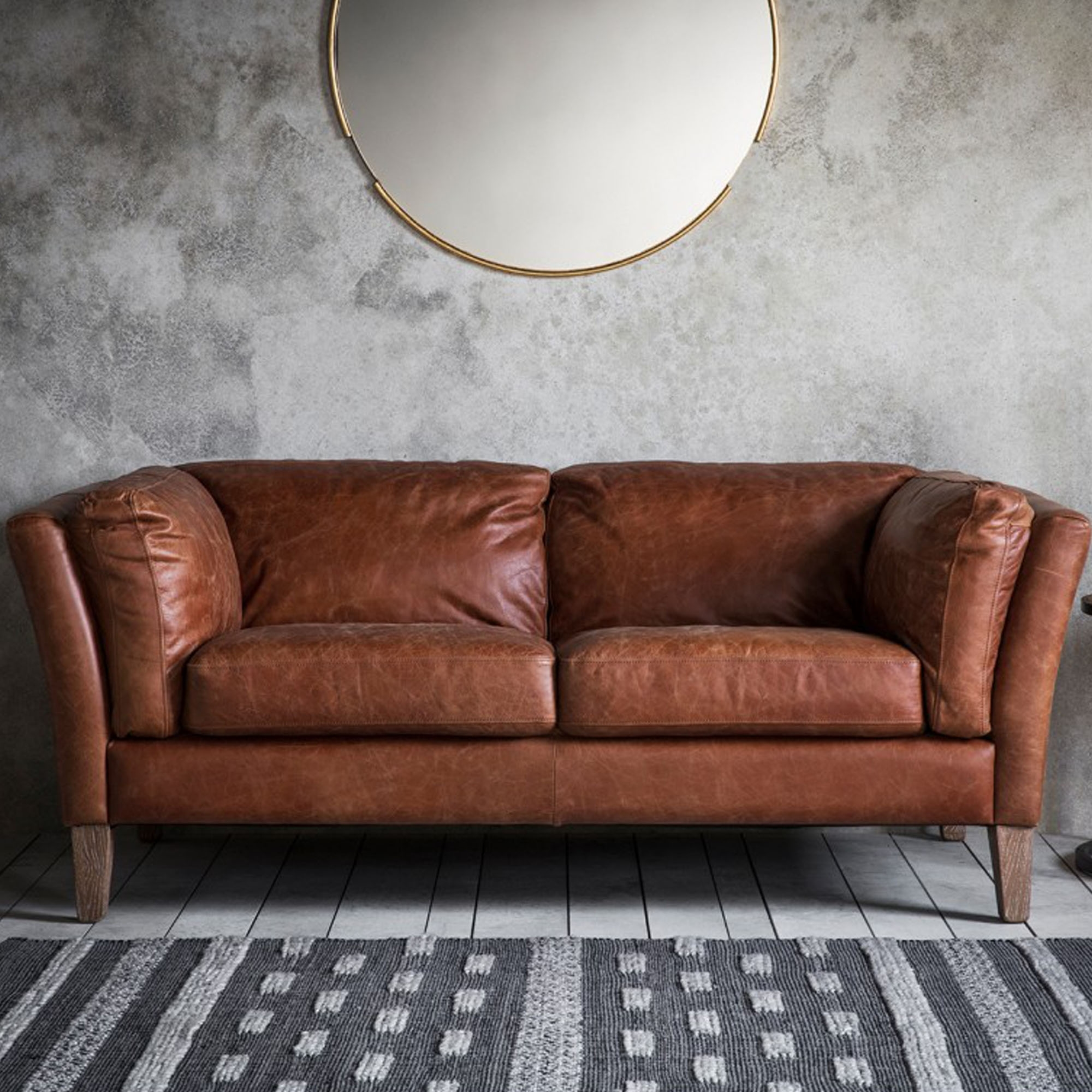 Picture of: Ebury 2 Seater Sofa Brown 2 Seater Sofas Brown Leather Sofa