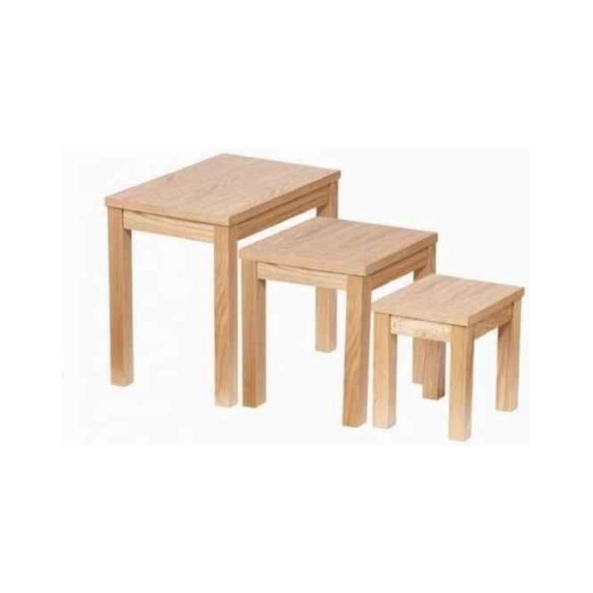 Eden Oak Nest Of 3 Tables