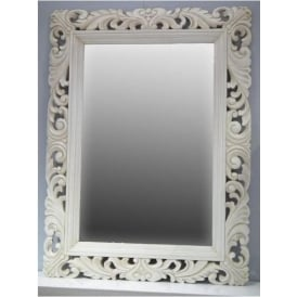 Elaborate Ornate Framed Antique French Style Wall Mirror