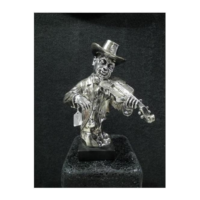 Electro Plated Violin Player Ornament