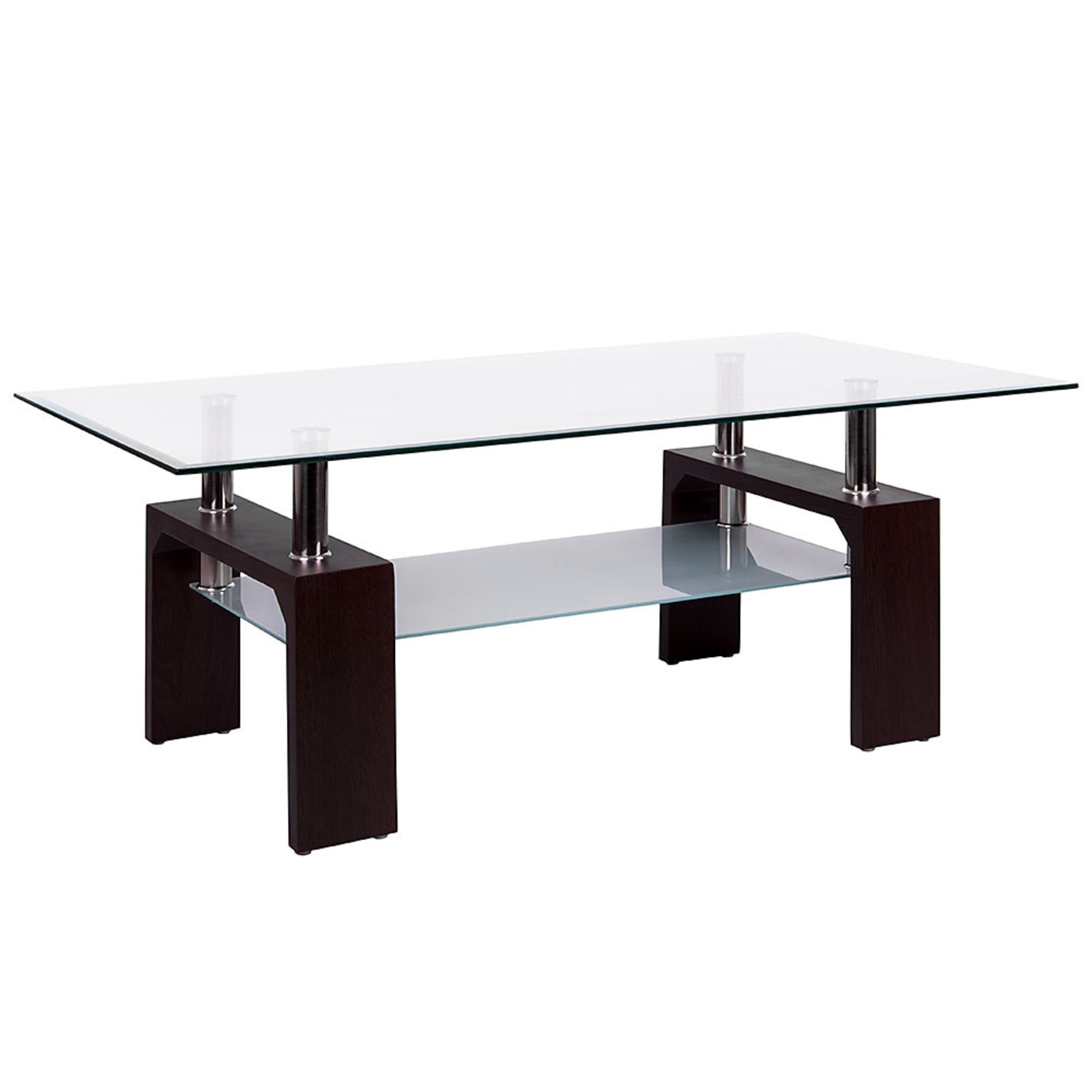 Elise Rectangular Clear Glass Coffee Table Dining Glass Furniture