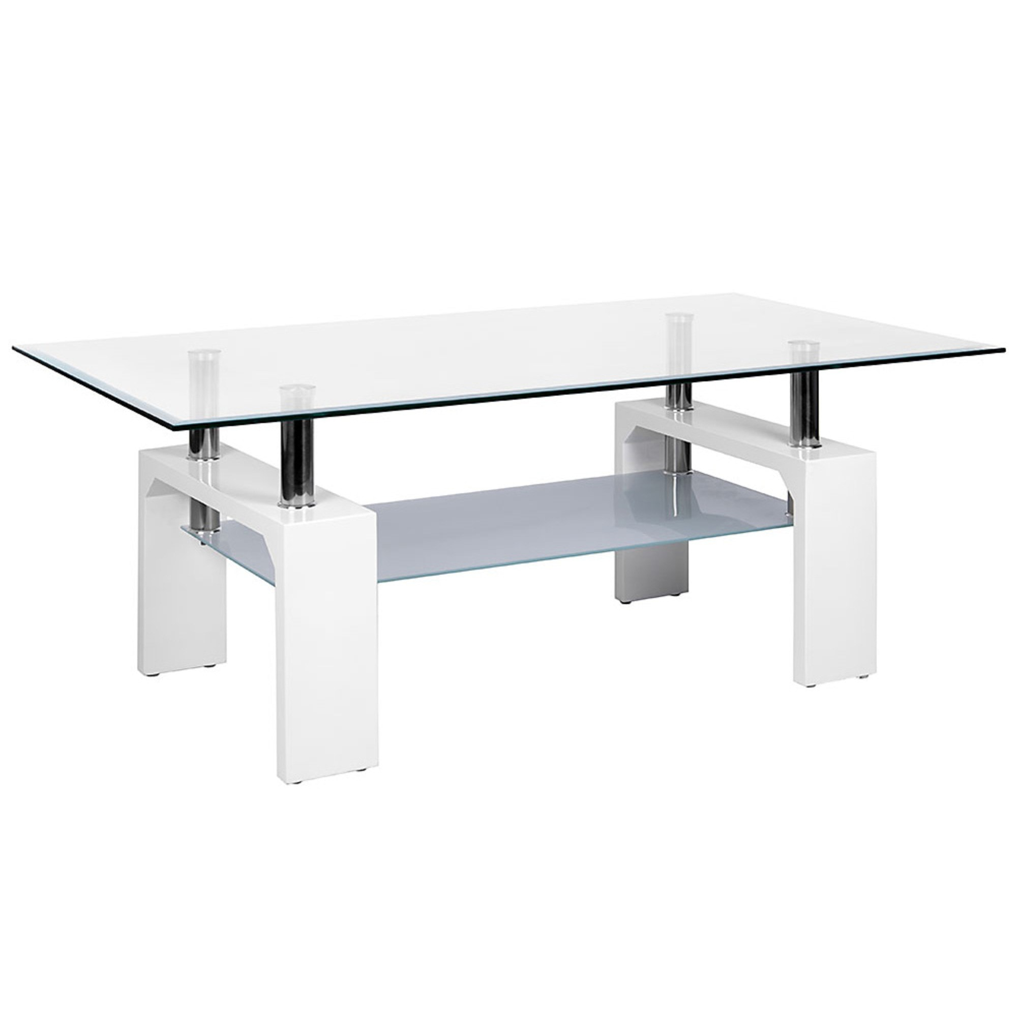 Glass Coffee Table With White Legs 5