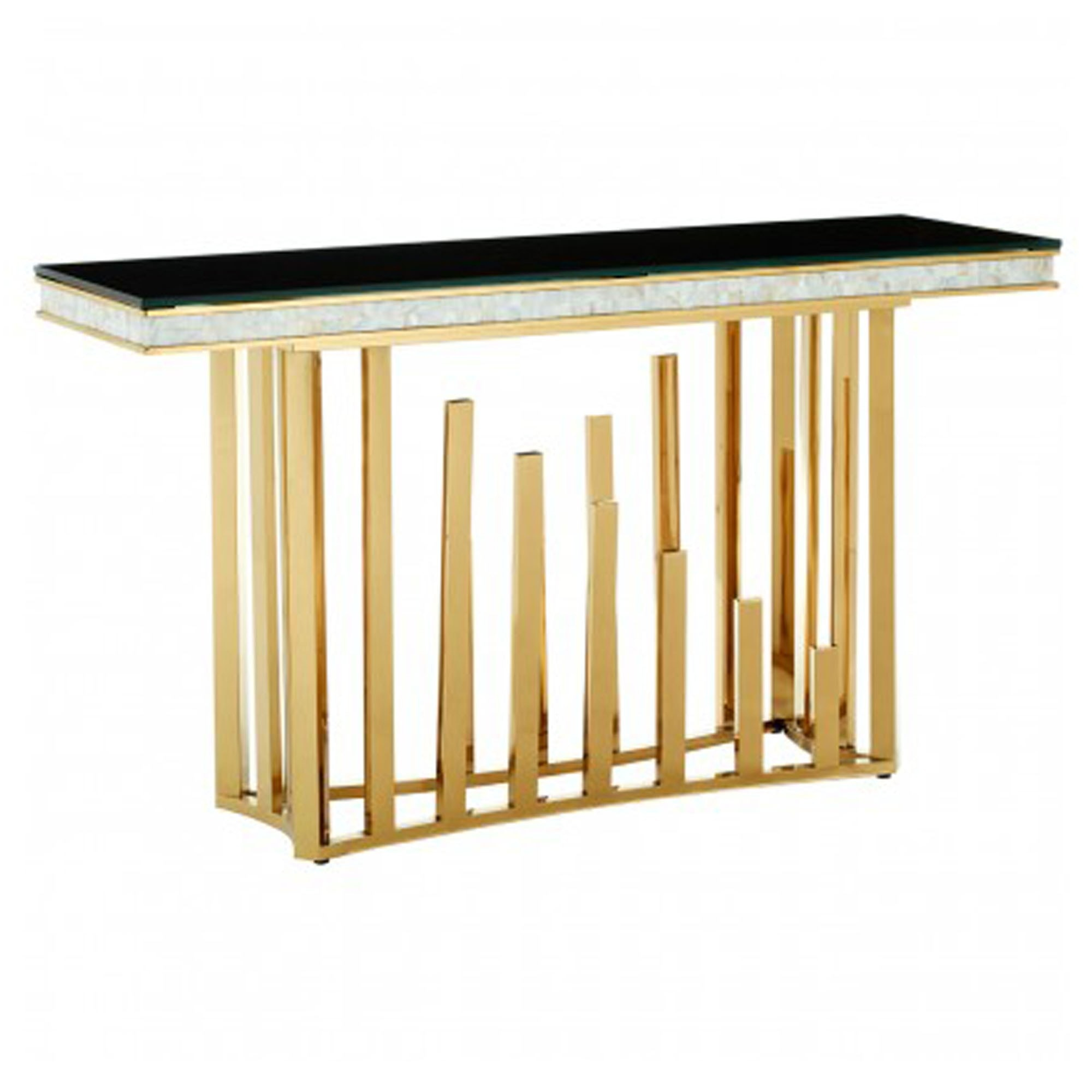 Eliza Gold Finish Console Table
