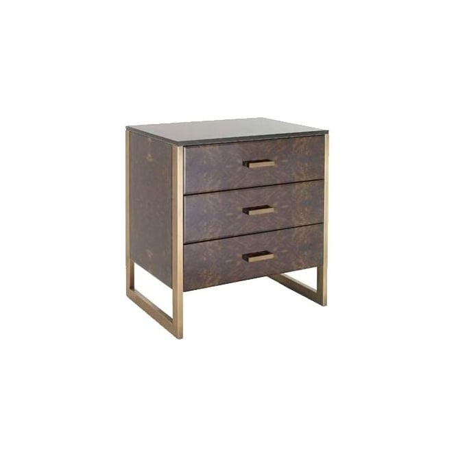 Eman Glass Walnut Bedside