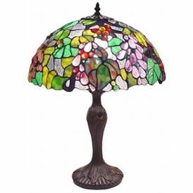 Embosed Grape Tiffany Lamp