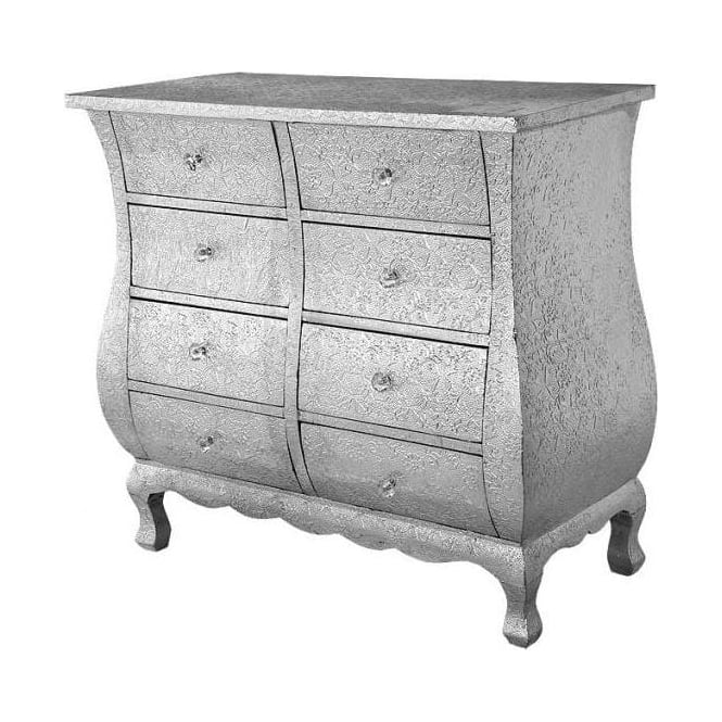 Embossed Chaandhi Kar Chest of Drawers