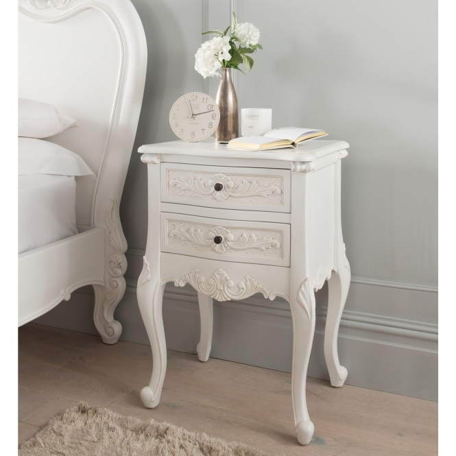 Emmanuelle Antique French Style Bedside Table