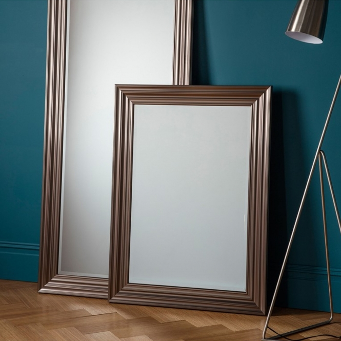 Erskine Rectangle Pewter Wall Mirror