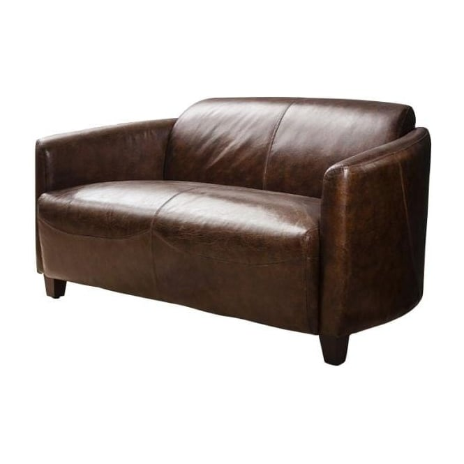 Escort Leather 2 Seater Sofa