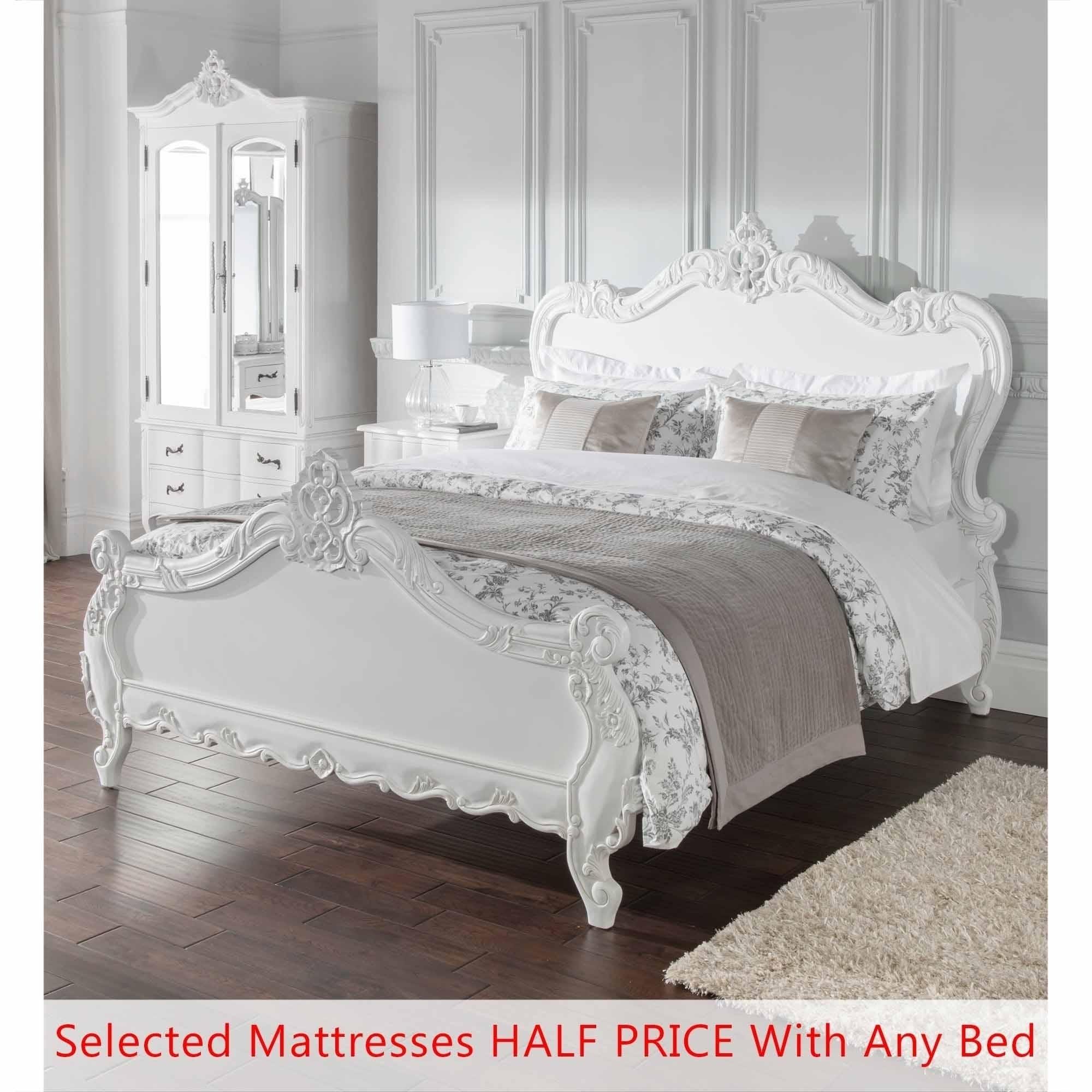 Estelle Antique French Style Bed Half Price Mattress