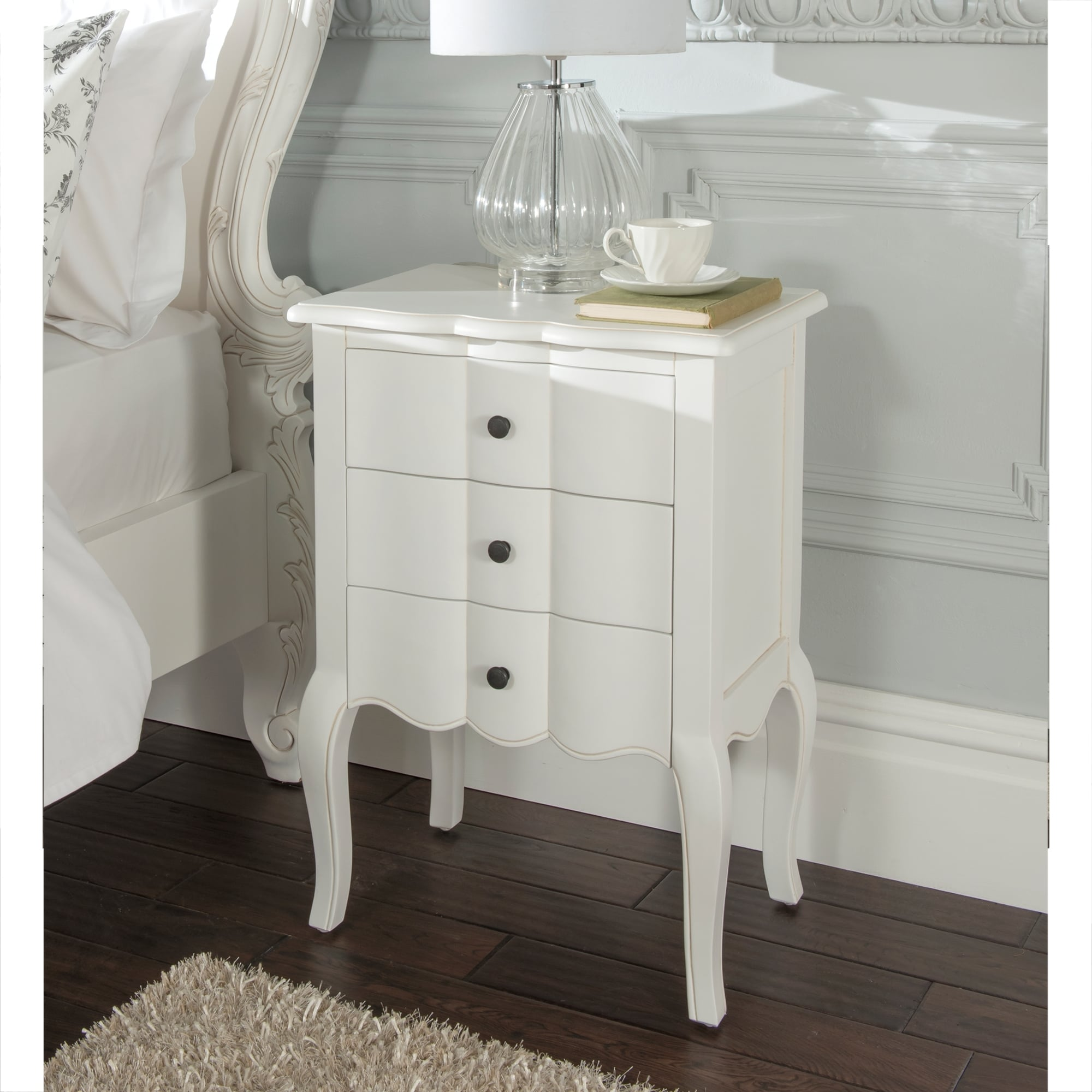 zoom table bedside venetian mirrored