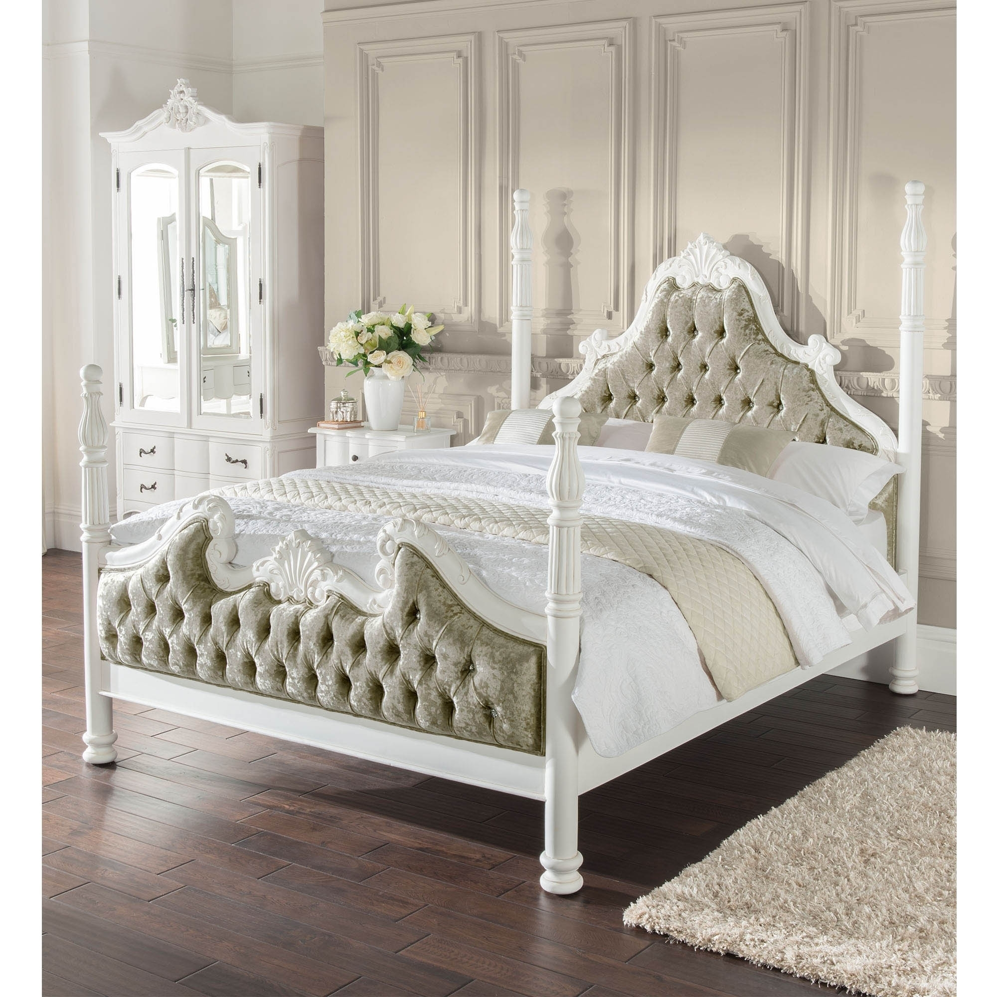 Four Poster Antique French Style Bed