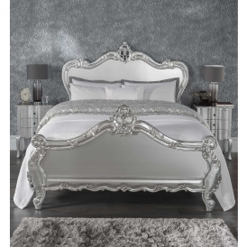 Estelle Silver Antique French Style Bed