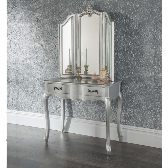 Estelle Silver Antique French Style Dressing Table