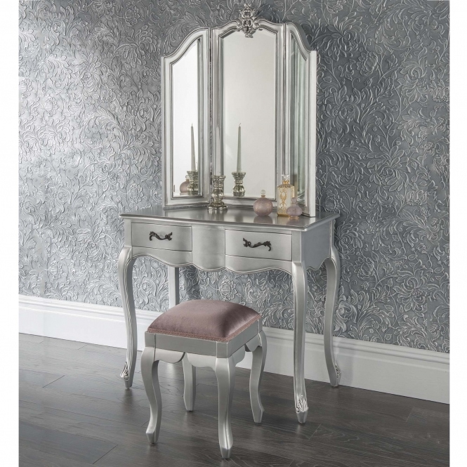 Estelle Silver Antique French Style Dressing Table Set