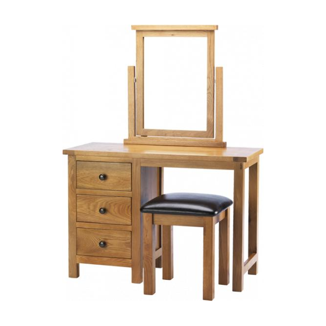 Eton Oak Dressing Table + Stool