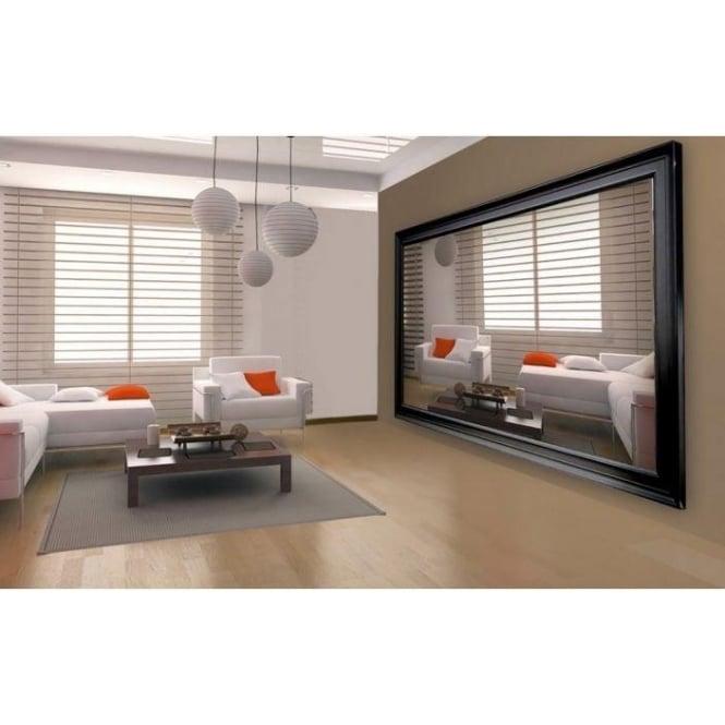 Extra Large Black Decorative Mirror Modern Mirrors