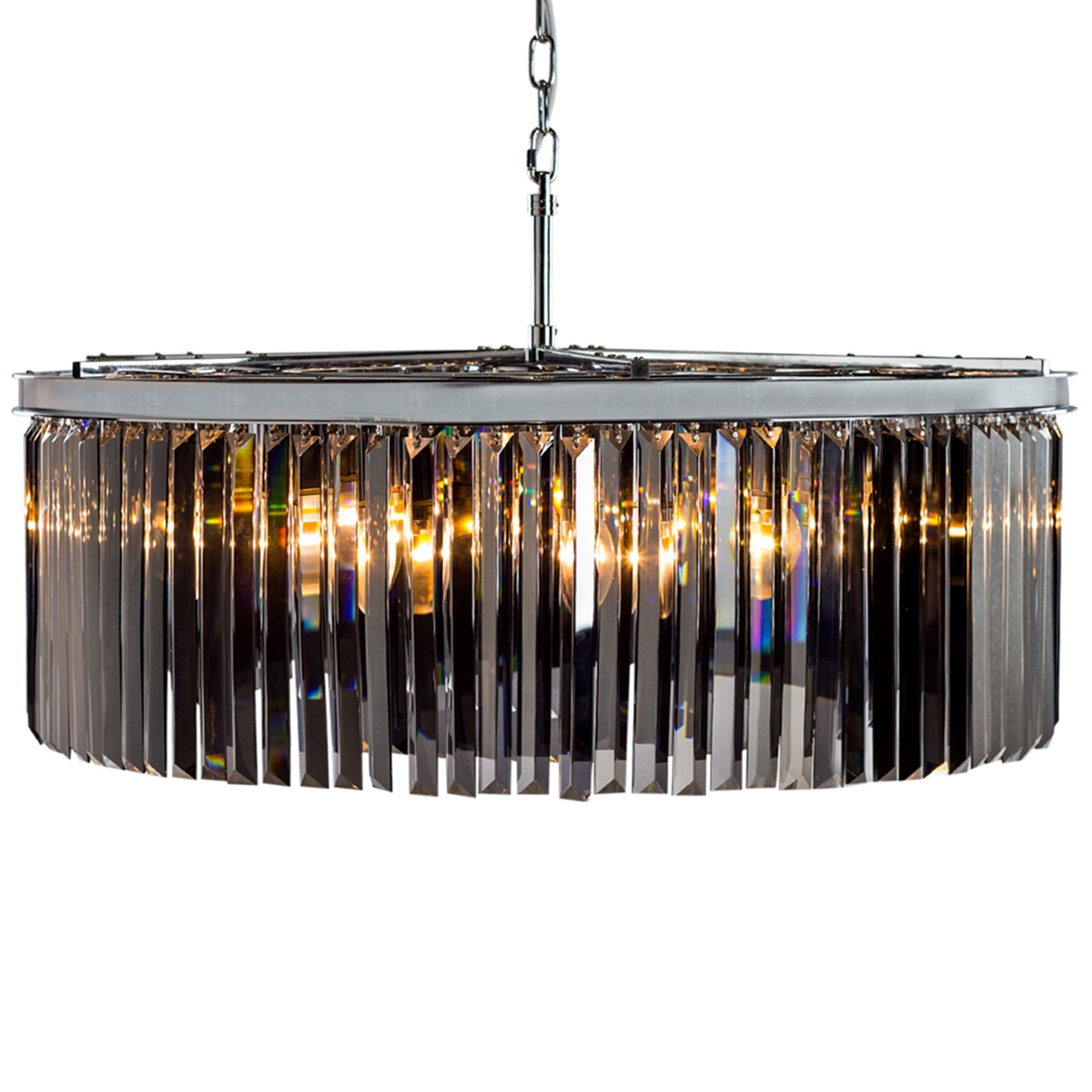 Extra large chrome smoked glass prism drop cascade chandelier online extra large chrome smoked glass prism drop cascade chandelier aloadofball Image collections