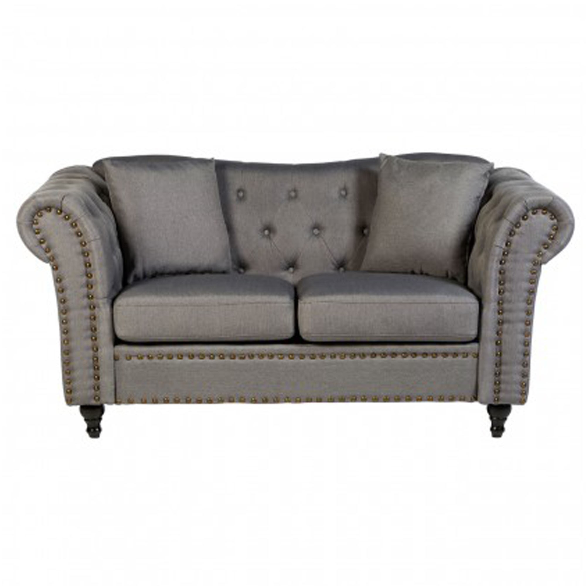 Fable 2 Seat Grey Chesterfield Sofa