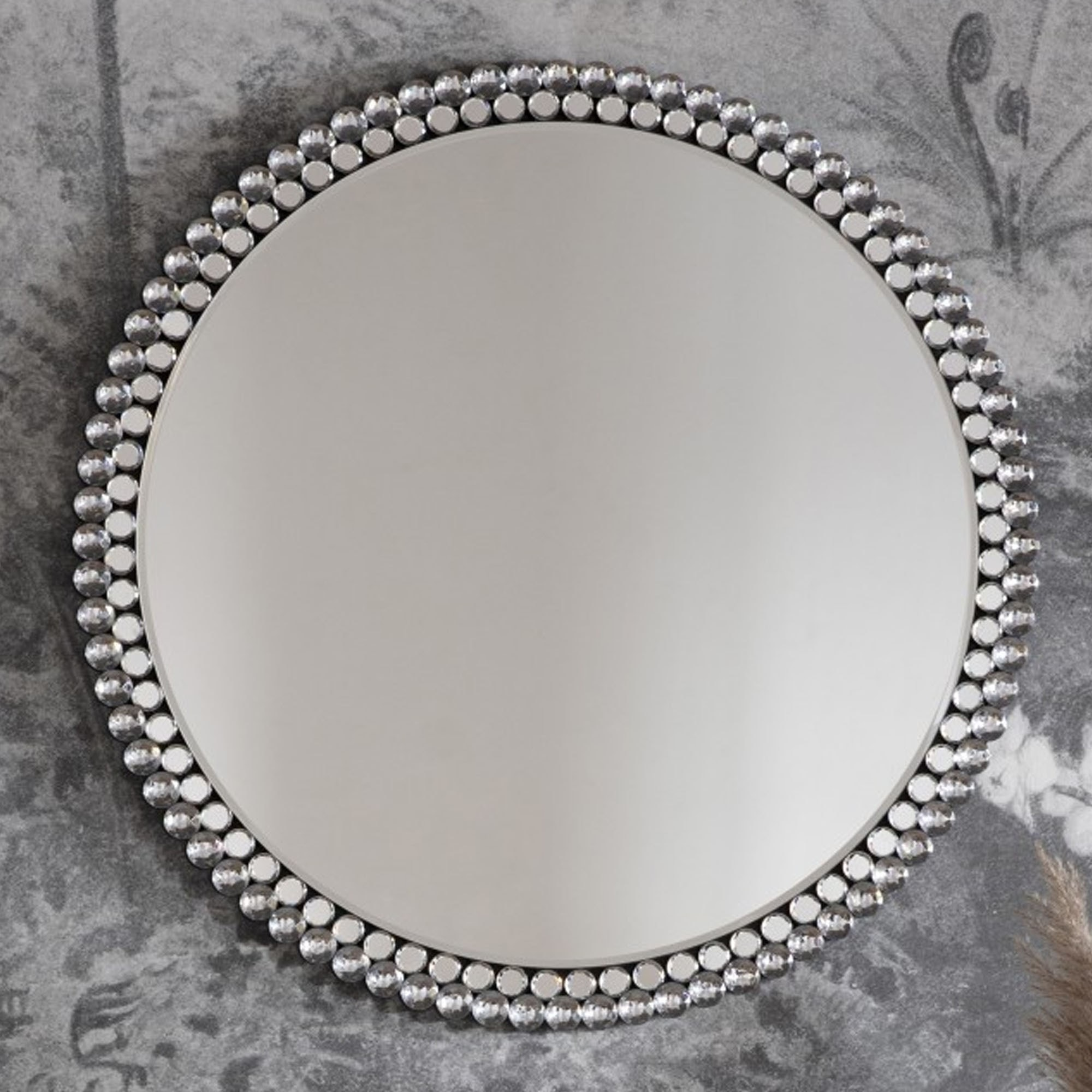 Fallon Round Mirror Large Decorative Mirror Wall Mirror Round Mirror