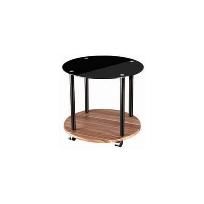 Fargo Walnut 3 Tier Black Unit
