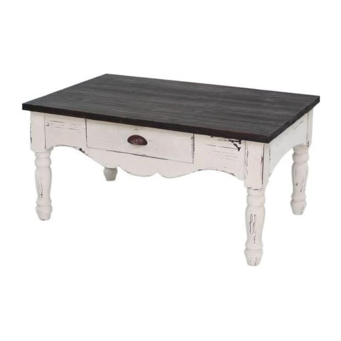 Farmhouse 1 Drawer Antique French Coffee Table (Factory Second)