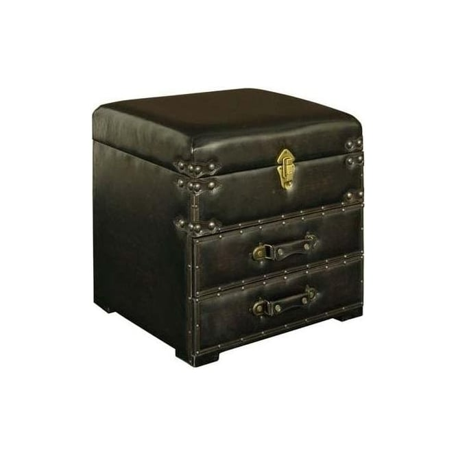 Faux Leather 2 Drawer Telephone Seat