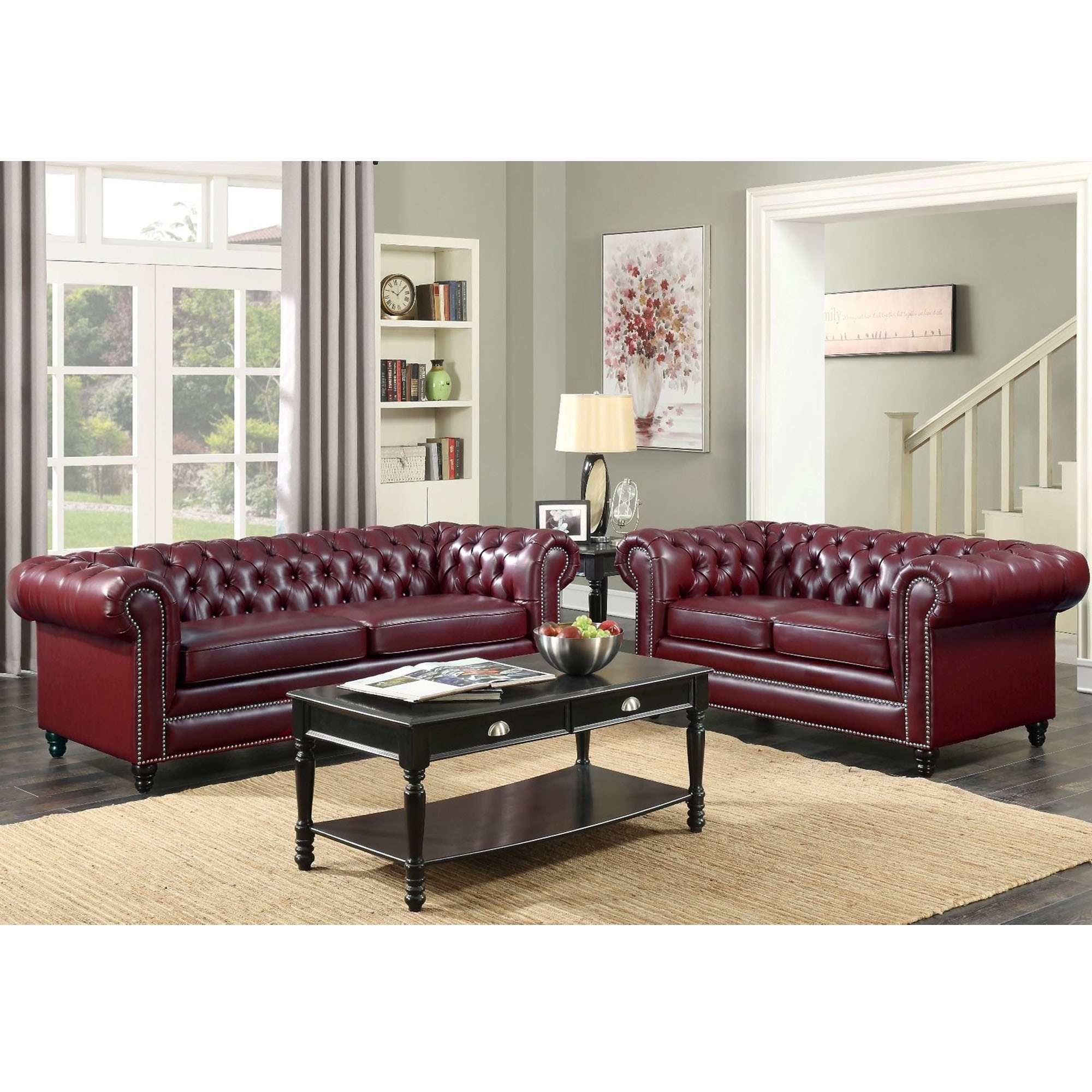 Super Faux Leather Chesterfield 3 Seater Sofa Gmtry Best Dining Table And Chair Ideas Images Gmtryco