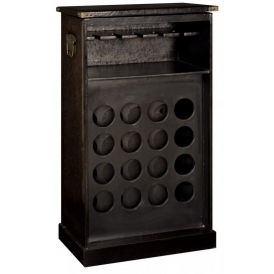 Faux Leather Wine Cabinet