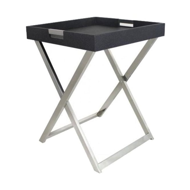 Faux Stingray Folding Side Table
