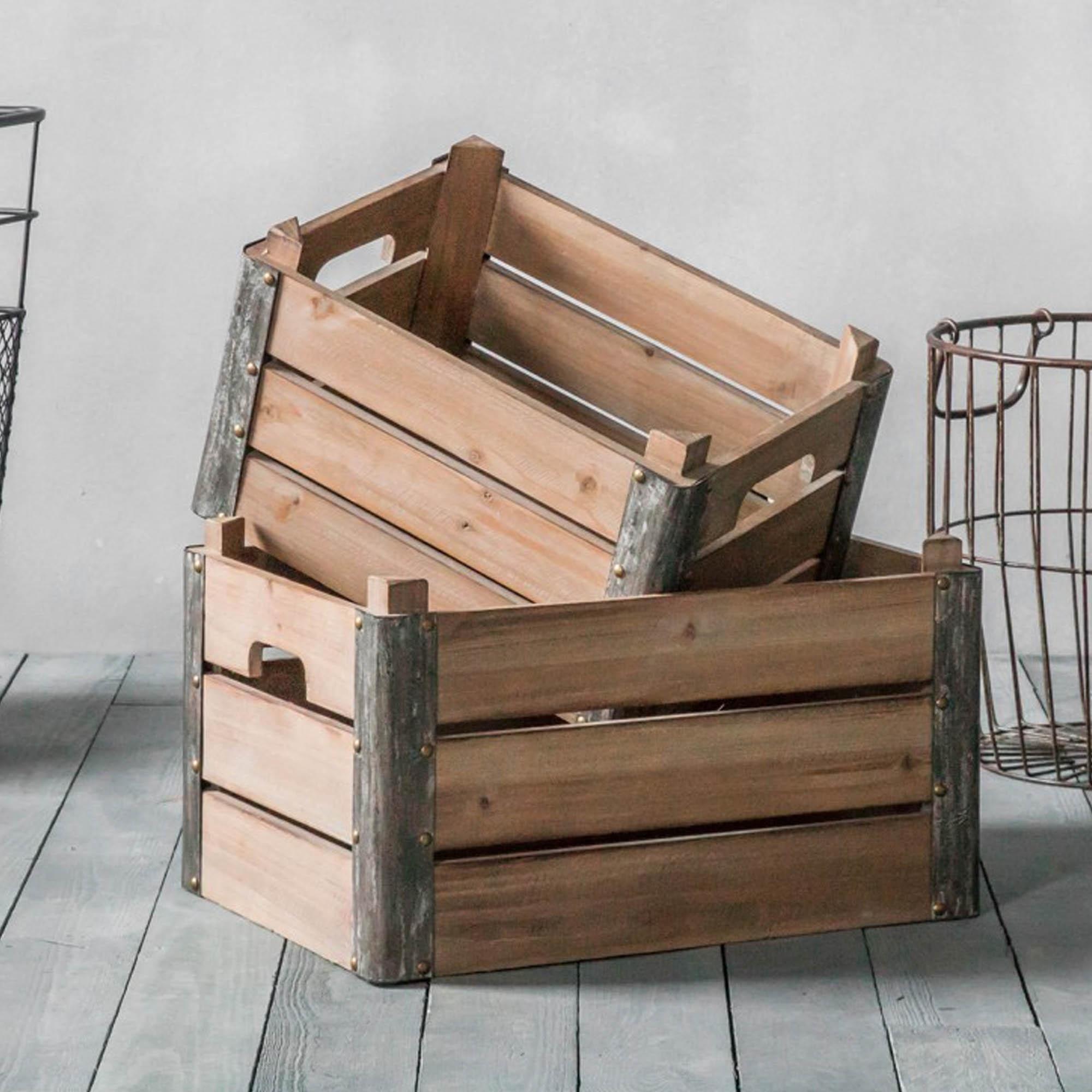 Fischer Set of 2 Crates & Fischer Set of 2 Crates | Storage | HomesDirect365
