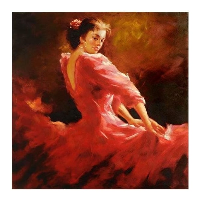 Flamenco Dancer Canvas