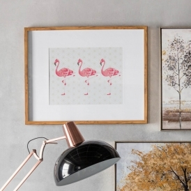 Flamingos Crossing Framed Art