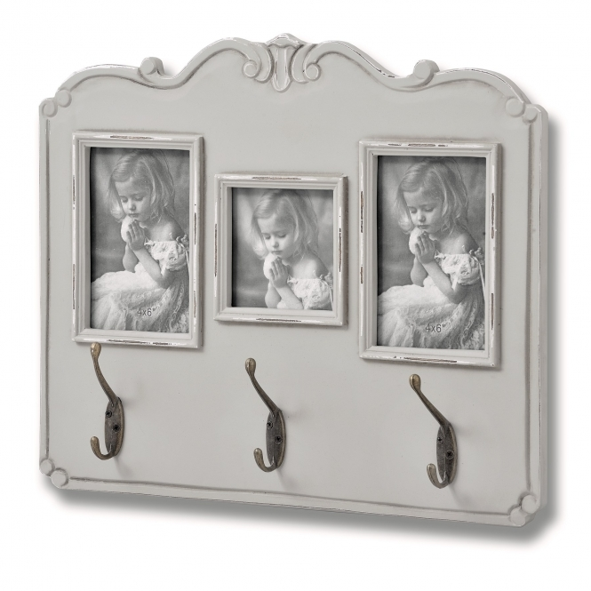 Fleur Shabby Chic Photo Frame With Hooks