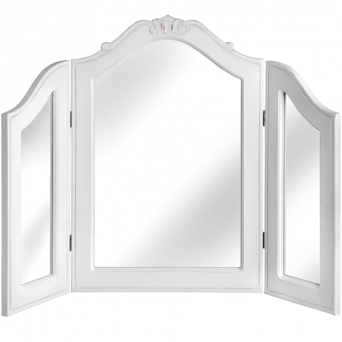 Fleur White 3 Way Shabby Chic Dressing Mirror
