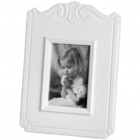 Fleur White 4 x 6 Single Shabby Chic Photo Frame
