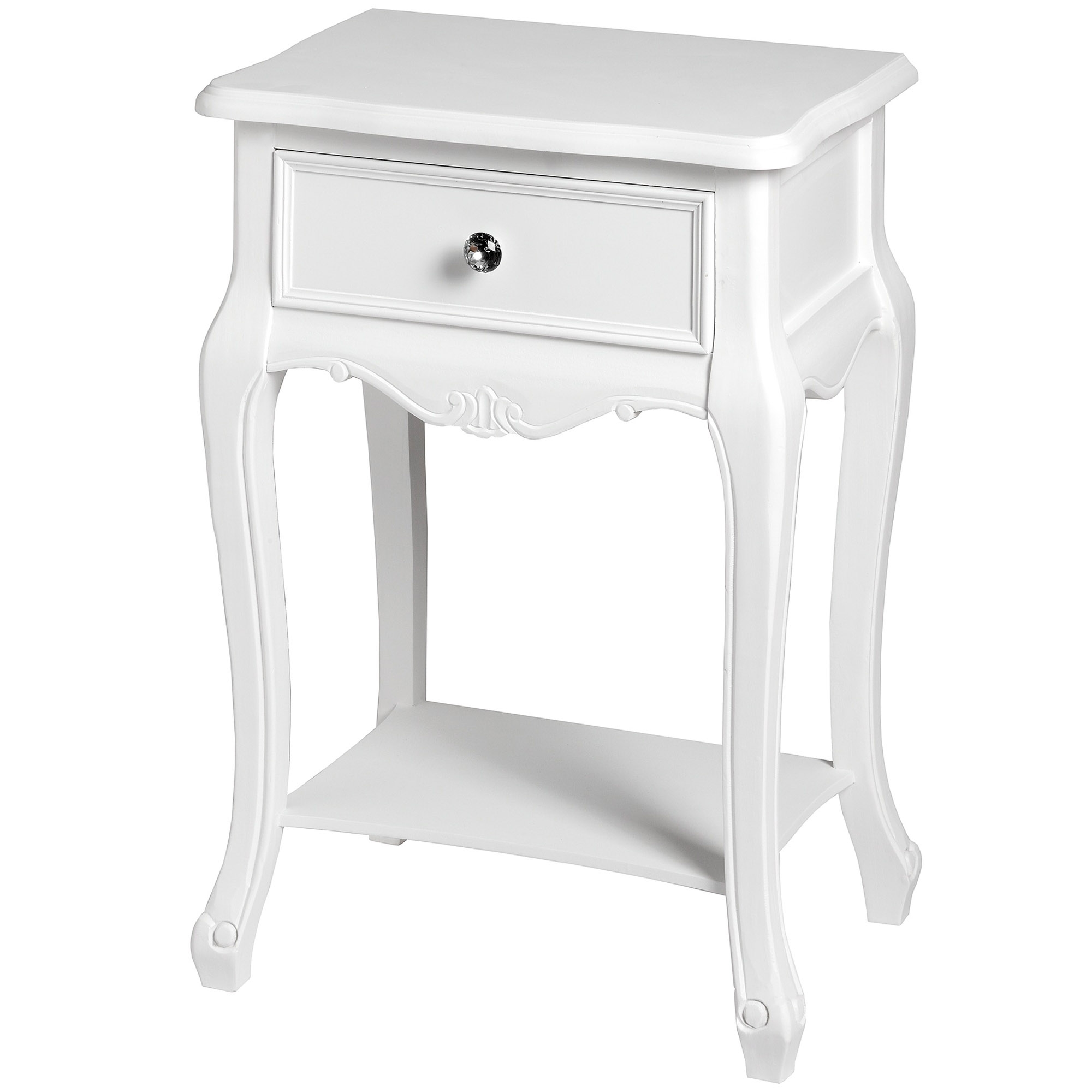 Picture of: Fleur White Shabby Chic Bedside Table Bedroom Homesdirect365