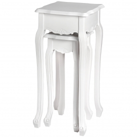 Fleur White Shabby Chic Plant Tables