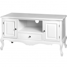Fleur White Shabby Chic TV Unit