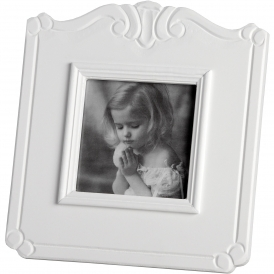 Fleur White Single 4 x 4 Shabby Chic Photo Frame