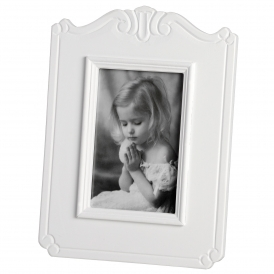 Fleur White Single 5 x 7 Shabby Chic Photo Frame