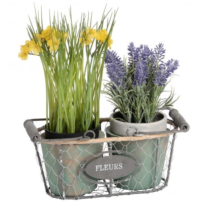 Fleurs Double Wired Plant Pot